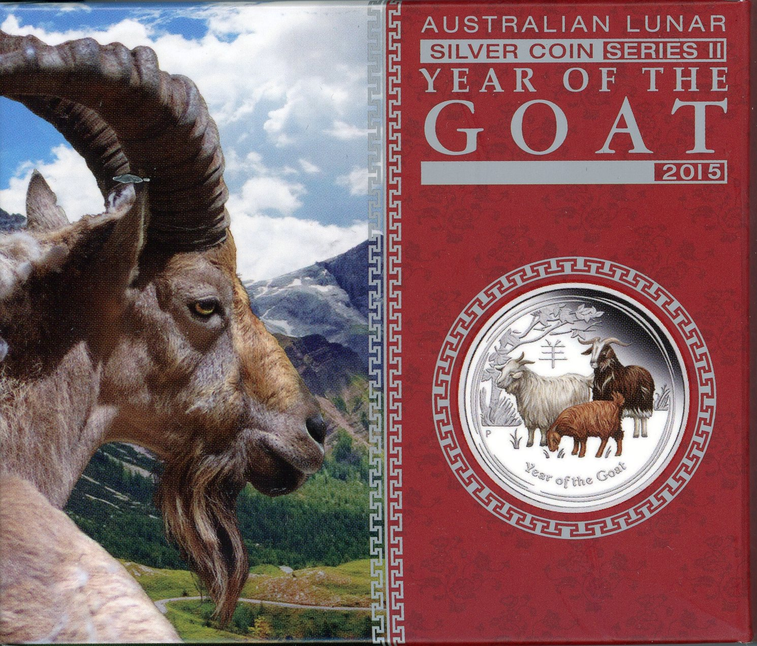 Thumbnail for 2015 Australian 1oz Coloured Silver Proof - Lunar Year of the Goat