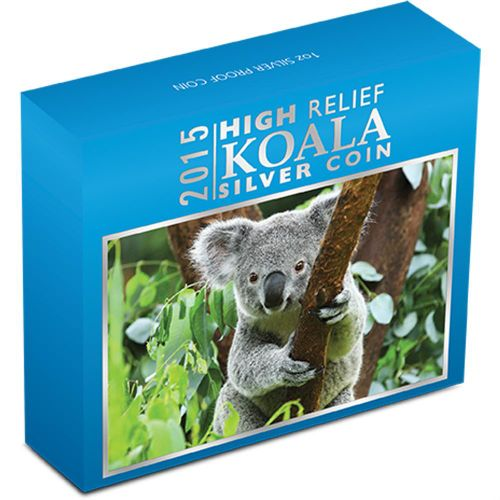 Thumbnail for 2015 Australian High Relief 1oz Silver Koala Proof Coin