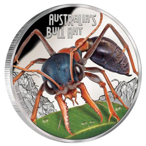 Thumbnail for 2015 Tuvalu Australian Bull Ant 1oz Coloured Silver Proof