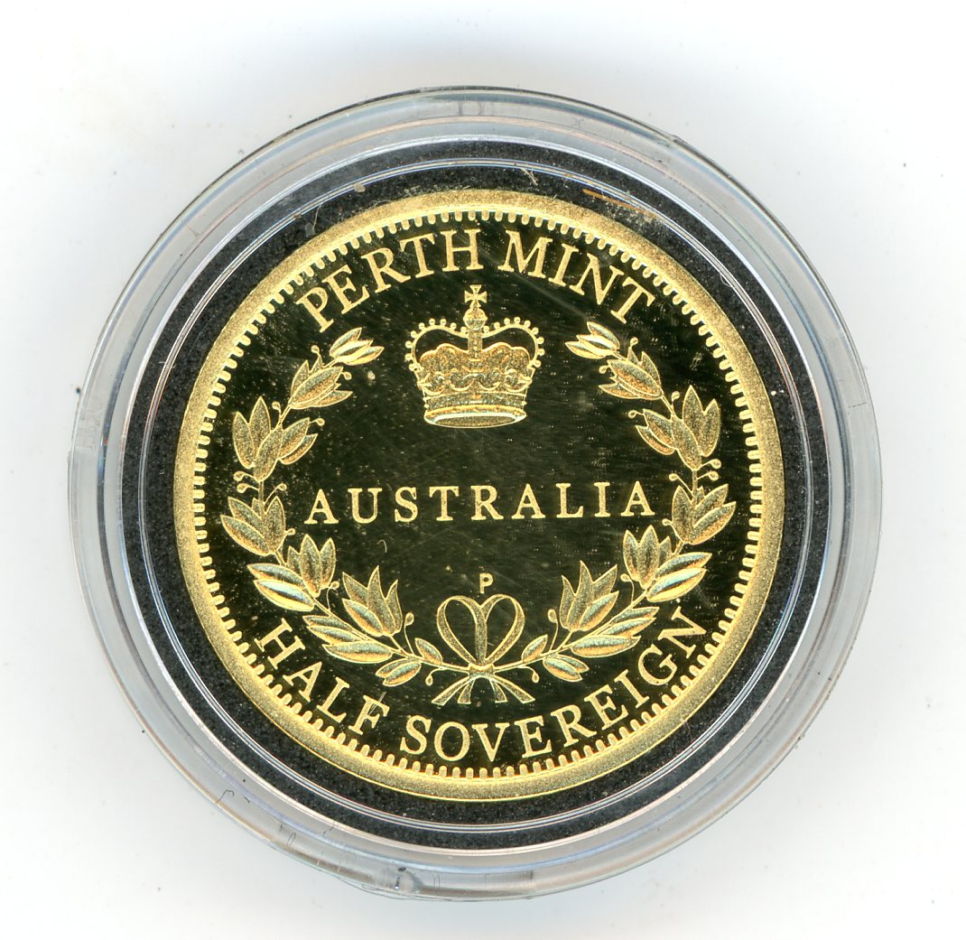 Thumbnail for 2015 Australian Perth Mint Proof Gold Half Sovereign in Capsule only