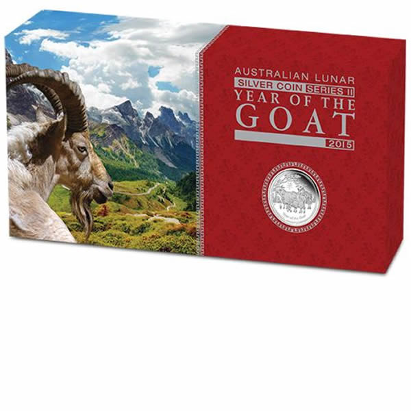 Thumbnail for 2015 Australian Lunar Series II Year of the Goat 3 Coin Silver Proof Set