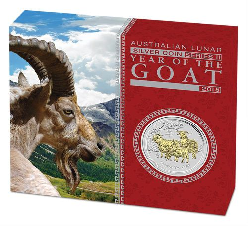 Thumbnail for 2015 Australian 1oz Silver Gilded Edition - Lunar Year of the Goat