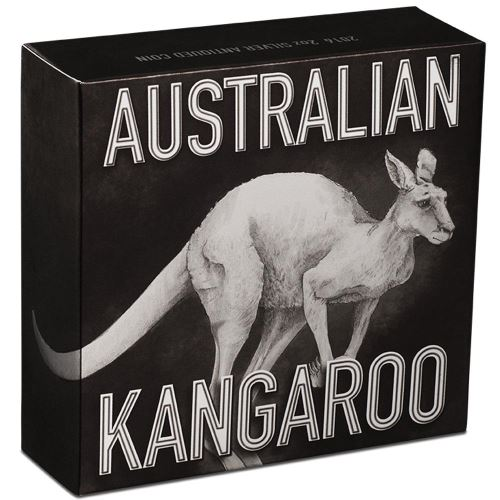 Thumbnail for 2016 Australian 2oz Antiqued Silver High Relief Kangaroo