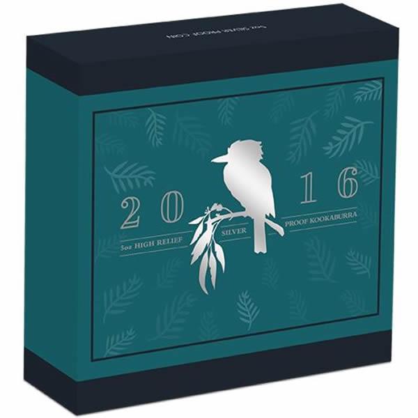 Thumbnail for 2016 5oz Silver Proof High Relief Australian Kookaburra