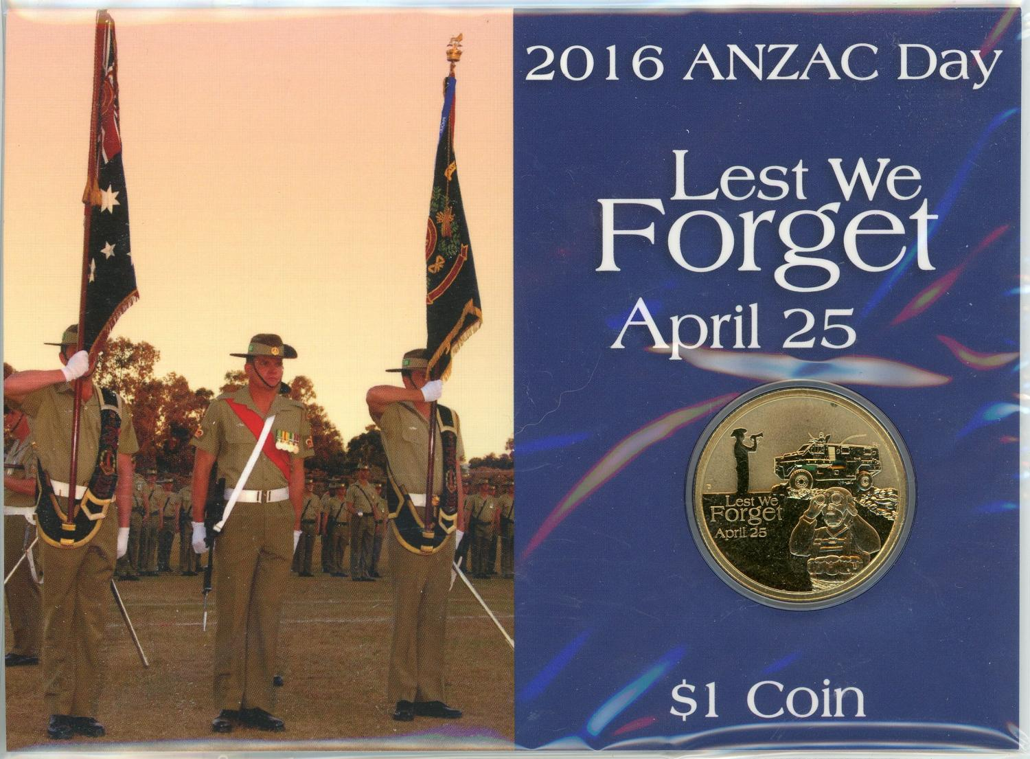 Thumbnail for 2016 Anzac Day Lest We Forget $1 Coin
