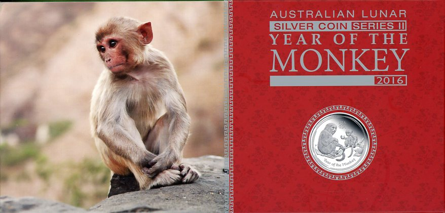Thumbnail for 2016 Australian Lunar Series II Year of the Monkey 3 Coin Proof Set