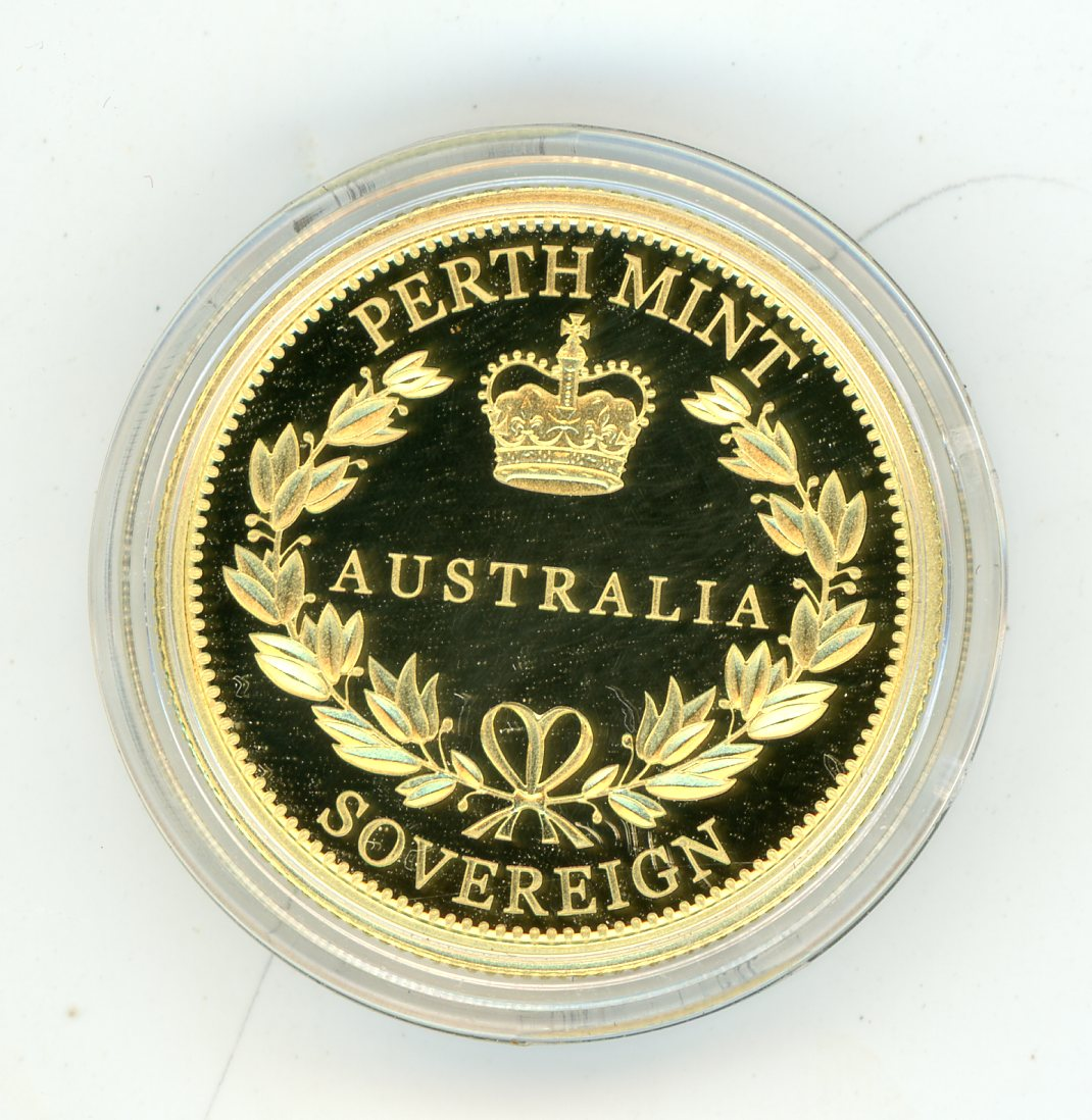 Thumbnail for 2016 Australian Perth Mint Proof Gold Sovereign in Capsule only