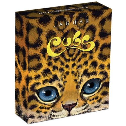 Thumbnail for 2016 Tuvalu Half oz Coloured Silver Proof - Jaguar Cubs