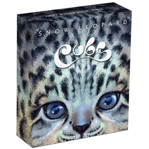 Thumbnail for 2016 Tuvalu Coloured Proof Fifty Cent The Cubs - Snow Leopard