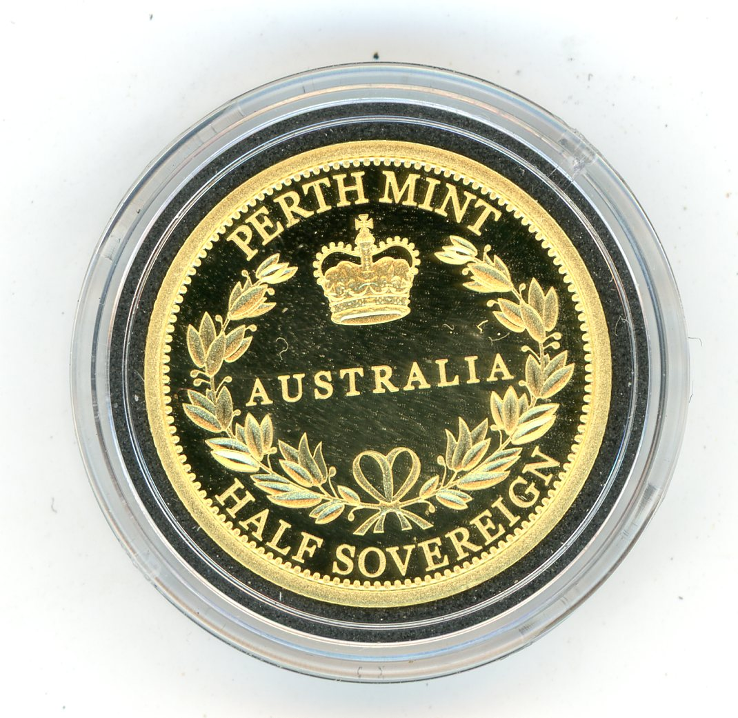 Thumbnail for 2016 Australian Perth Mint Proof Gold Half Sovereign in Capsule only