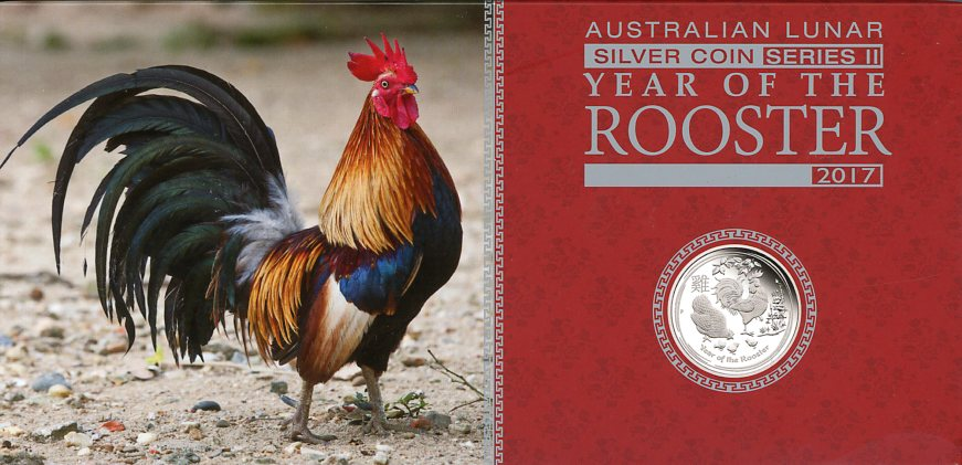 Thumbnail for 2017 Australian Lunar Series II Year of the Rooster 3 Coin Proof Set