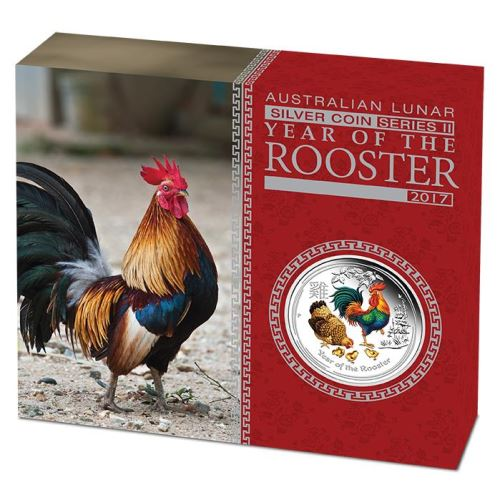 Thumbnail for 2017 Australian 1oz Silver Coloured Year of the Rooster
