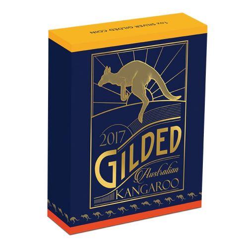 Thumbnail for 2017 Gilded 1oz Silver Kangaroo