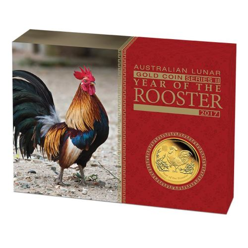 Thumbnail for 2017 Australian One Quarter oz Gold Proof Coin - Year of the Rooster