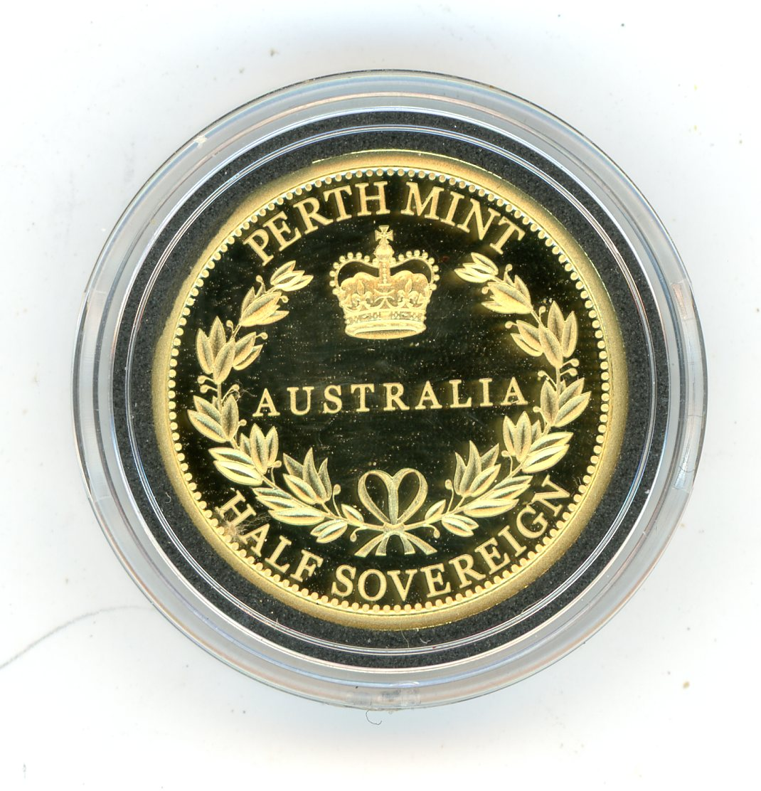 Thumbnail for 2017 Australian Perth Mint Proof Gold Half Sovereign in Capsule only