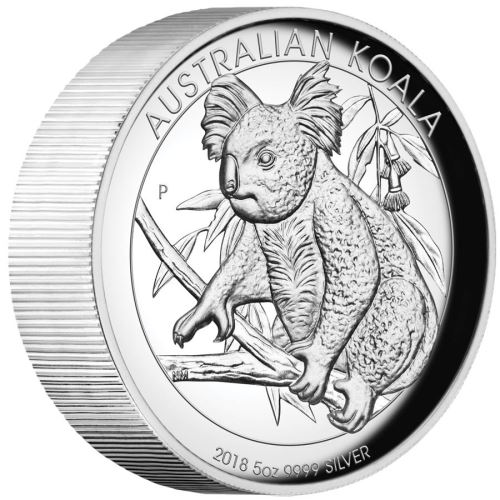 Thumbnail for 2018 Australian High Relief 5oz Silver Koala Proof Coin