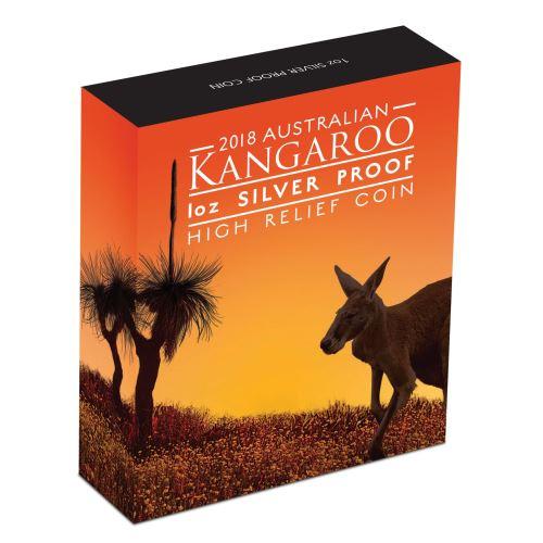 Thumbnail for 2018 1oz Silver Proof High Relief Coin - Australian Kangaroo