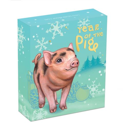 Thumbnail for 2019 Half oz Silver Proof Coin - Baby Year of the Pig