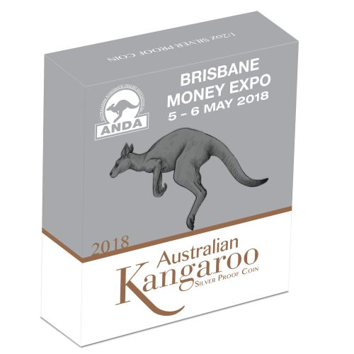 Thumbnail for 2018 Half oz Silver Proof High Relief Coin - Australian Kangaroo (Brisbane Money Expo ANDA)