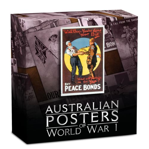Thumbnail for 2018 1oz Silver Proof Rectangular Coin - Australian Posters of WWI