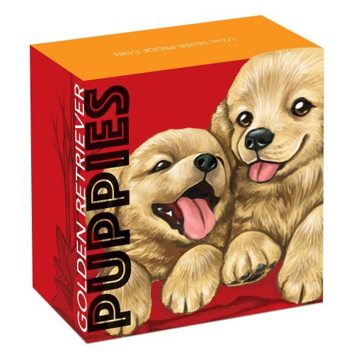 Thumbnail for 2018 Tuvalu Coloured Proof Fifty Cent Puppies - Golden Retriever