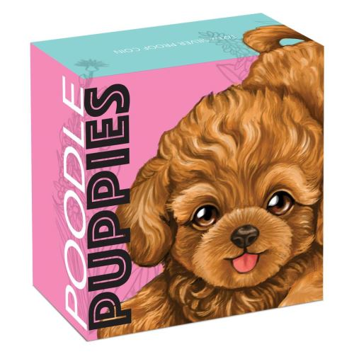 Thumbnail for 2018 Tuvalu Coloured Proof Fifty Cent Puppies- Poodle