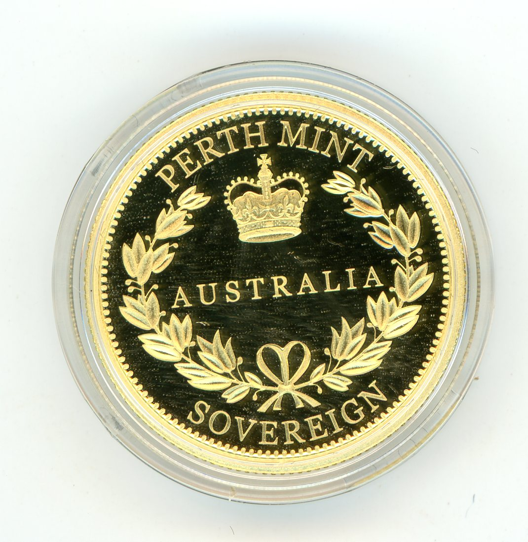 Thumbnail for 2018 Australian Perth Mint Proof Gold Sovereign in Capsule only