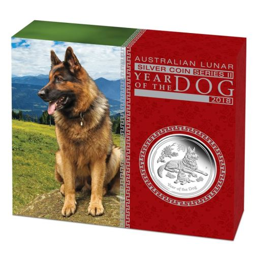 Thumbnail for 2018 Australian 1oz Silver Proof Coin - Year of the Dog
