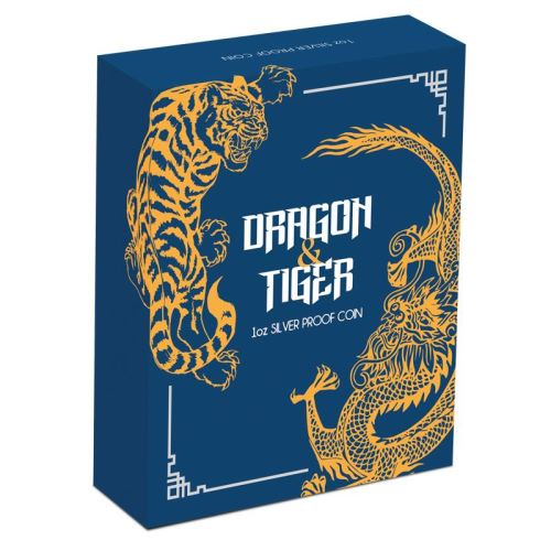 Thumbnail for 2019 Dragon & Tiger 1oz Silver Proof Coin