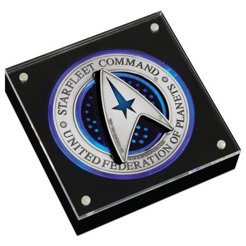 Thumbnail for 2019 Star Trek Star Fleet Command Emblem 3oz Holey Dollar and Delta Coin Set