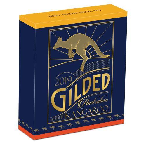 Thumbnail for 2019 Australian Kangaroo 1oz Silver Gilded Edition