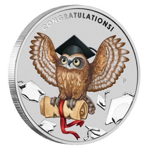 Thumbnail for 2019 Graduation 1oz Coloured Silver Coin