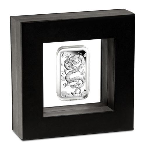 Thumbnail for 2019 Australian Dragon 1oz Silver Proof Rectangular Coin