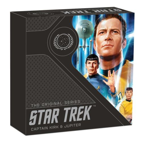 Thumbnail for 2019 Star Trek The Original Series Captain Kirk and Jupiter 1oz Coloured Silver Proof Coin