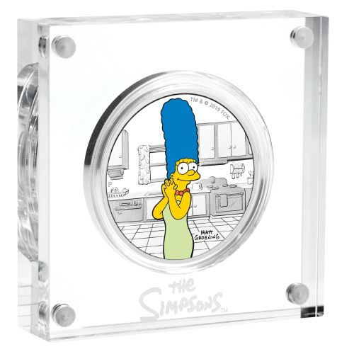 Thumbnail for 2019 The Simpsons Marge 1oz Coloured Silver Proof Coin