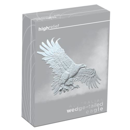 Thumbnail for 2019 Australian Wedge-tailed Eagle 1oz Silver Proof High Relief Coin
