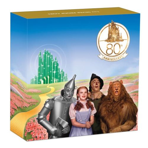 Thumbnail for 2019 The Wizard of Oz 80th Anniversary 1oz Coloured Silver Proof Coin