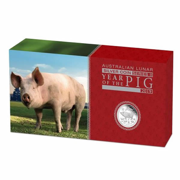 Thumbnail for 2019 Australian Lunar Series II Year of the Pig 3 Coin Silver Proof Set