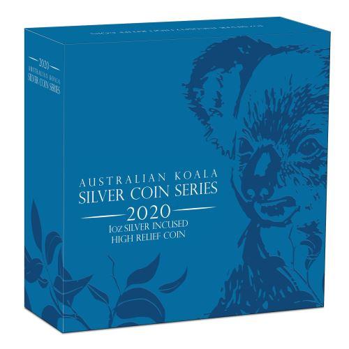 Thumbnail for 2020 Australian Koala 1oz Silver Incused High Relief Coin