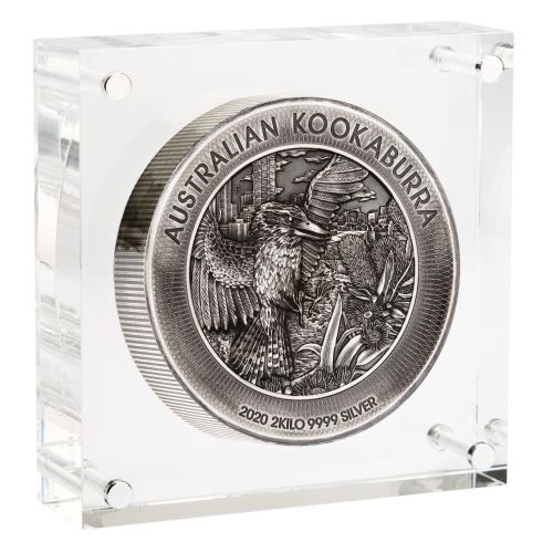 Thumbnail for 2020 Australian Kookaburra 2 Kilo Silver Antiqued High Relief Coin - Mintage only 200
