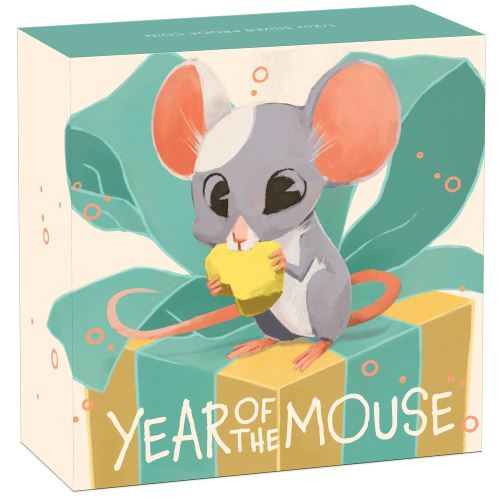 Thumbnail for 2020 Half oz Silver Proof Coin - Baby Mouse