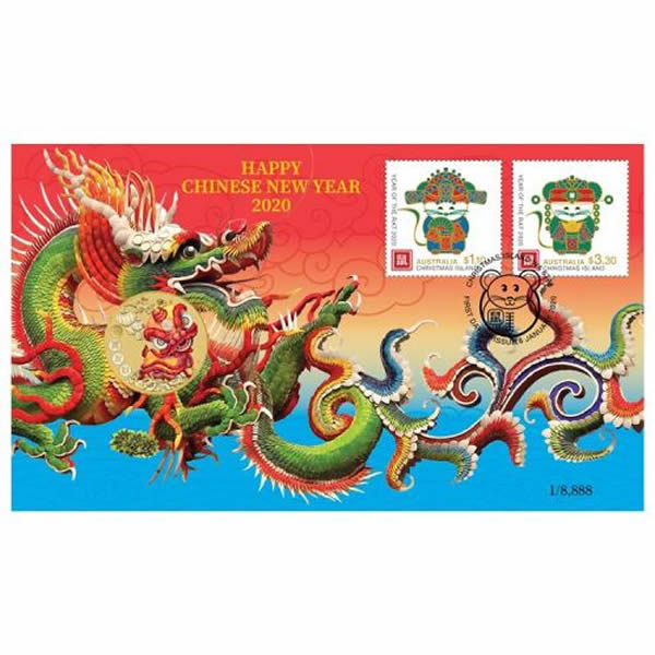 Thumbnail for 2020 Chinese New Year Stamp and Coin Cover PNC