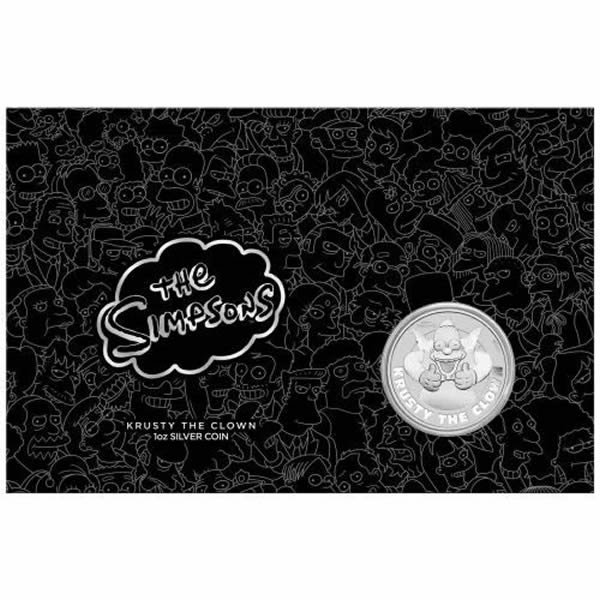 Thumbnail for 2020 Crusty the Clown 1oz Silver Coin in Card