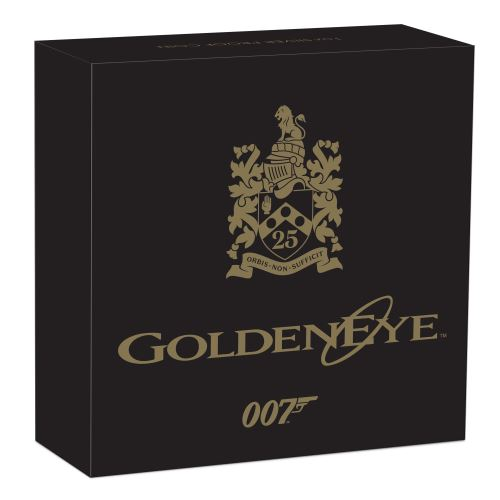 Thumbnail for 2020 James Bond GoldenEye 25th Anniversary 1oz Coloured Silver Proof Coin
