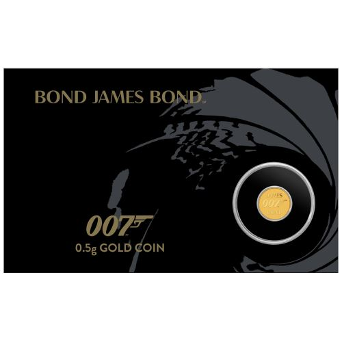 Thumbnail for 2020 James Bond 007 0.5g Gold Coin in Card
