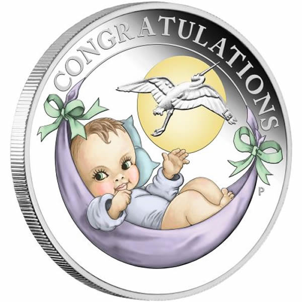 Thumbnail for 2020 Half oz silver Proof Coin Newborn Stork