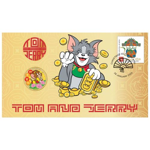Thumbnail for 2020 Tom & Jerry Stamp and Coin Cover PNC