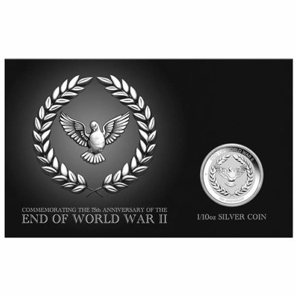 Thumbnail for 2020 One Tenth oz Silver Coin in Card- End of World War II 75th Anniversary