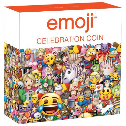 Thumbnail for 2020 1oz Silver Proof Coin - Emoji Celebration