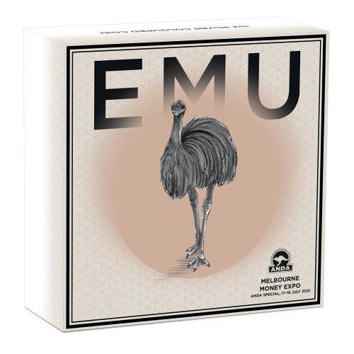 Thumbnail for 2021 Australian Emu 1oz Coloured Silver Coin - Melbourne Money Expo ANDA Special